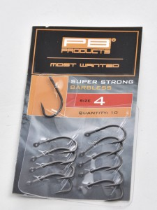 Super Strong Barbless Hook DBF size 4 10szt haki karpiowe bezzadziorowe