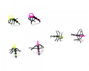 Super Strong Zig Insects Yellow/Pink 4pcs size 10-gotowy zestaw 4szt.)